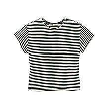 Buy Lee Relaxed Stripe T-Shirt, Bottle Green Online at johnlewis.com