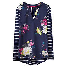 Buy Joules Beatrice Jersey Top, French Navy Floral Online at johnlewis.com