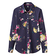 Buy Joules Lucie Semi-Fitted Printed Shirt, French Navy Floral Online at johnlewis.com