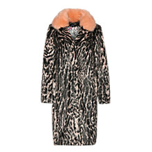 Buy Marc Cain Animal Faux Fur Coat, Bellini Online at johnlewis.com