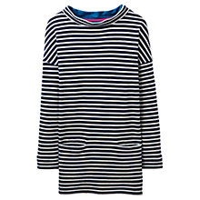 Buy Joules Boat Neck Stripe Jersey Top, French Navy/White Online at johnlewis.com