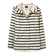 Buy Joules Right as Rain Coast Waterproof Printed Jacket, Black Stripe Online at johnlewis.com