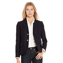 Buy Polo Ralph Lauren Boy Wool Blazer, Greenwich Navy Online at johnlewis.com