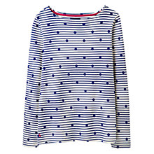 Buy Joules Harbour Print Jersey Top, Navy Spot Online at johnlewis.com