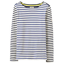 Buy Joules Harbour Stripe Long Sleeve Jersey Top, Soft Navy Hotchpotch Online at johnlewis.com