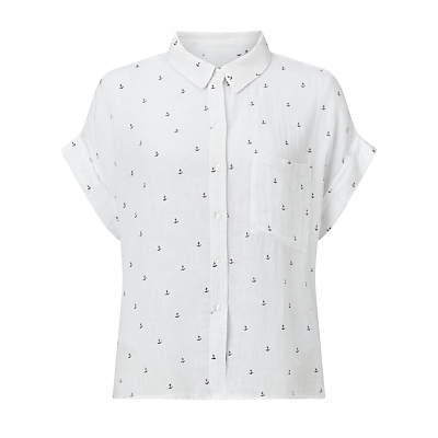 Rails Whitney Anchor Print Shirt, White Anchor