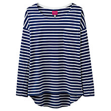 Buy Joules Drop Shoulder Stripe Top, French Navy Online at johnlewis.com