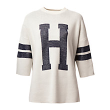 Buy Hilfiger Denim 3/4 Sleeve H Jumper, Egret Online at johnlewis.com