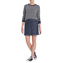 Buy Lee Button Through Denim Skirt, Anchor Blue Online at johnlewis.com