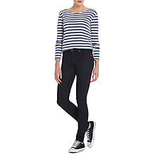 Buy Lee Jodee Regular Waist Super Skinny Jeans, Black Bandit Online at johnlewis.com