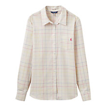 Buy Joules Lucie Semi-Fitted Check Shirt, Cream Multi Online at johnlewis.com