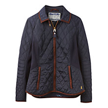 Buy Joules Marchesa Slim Fit Quilted Jacket, Marine Navy Online at johnlewis.com