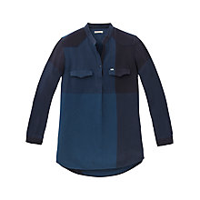 Buy Lee Chambray Tunic Top, Washed Blue Online at johnlewis.com
