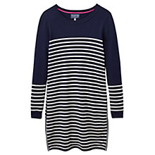 Buy Joules Hetty Stripe Tunic Top, French Navy/Cream Online at johnlewis.com