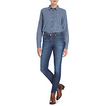 Buy Lee Scarlett High Waist Skinny Jeans, Blue Lustre Online at johnlewis.com