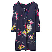 Buy Joules Kimberley Notch Neck Tunic Dress, French Navy Floral Online at johnlewis.com