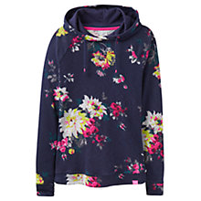 Buy Joules Marlston Lightweight Hoodie, French Navy Floral Online at johnlewis.com