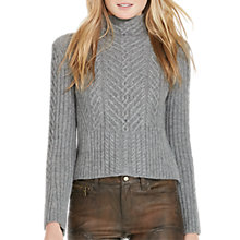 Buy Polo Ralph Lauren Boxy Alpaca-Blend Jumper, Steel Heather Online at johnlewis.com