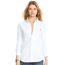 Buy Polo Ralph Lauren Heidi Stretch Shirt, White Online at johnlewis.com