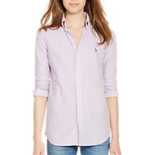 Buy Polo Ralph Lauren Heidi Stretch Stripe Shirt, Desert Purple Online at johnlewis.com