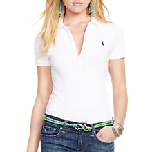 Buy Polo Ralph Lauren Julie Skinny Fit Stretch Polo Shirt, White Online at johnlewis.com