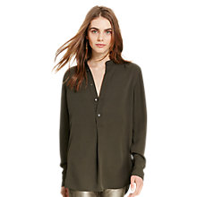 Buy Polo Ralph Lauren Long Sleeve Silk Shirt, Carbon Graphite Online at johnlewis.com