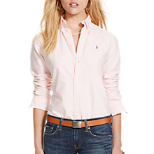 Buy Polo Ralph Lauren Harper Stripe Fitted Shirt, Pink/White Online at johnlewis.com