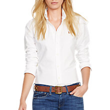 Buy Polo Ralph Lauren Harper Fitted Shirt, White Online at johnlewis.com