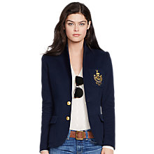 Buy Polo Ralph Lauren Custom Stretch Blazer, Aviator Navy Online at johnlewis.com