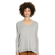 Buy Polo Ralph Lauren Fine Knit V-Neck Jumper, Fawn Grey Heather Online at johnlewis.com