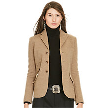 Buy Polo Ralph Lauren Hacking Jacket, Tan Herringbone Online at johnlewis.com