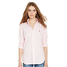 Buy Polo Ralph Lauren Heidi Stretch Shirt, Carmel Pink Online at johnlewis.com