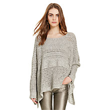 Buy Polo Ralph Lauren Poncho-Inspired Jumper, Grey Melange Online at johnlewis.com