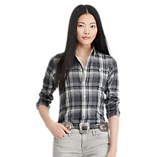 Buy Polo Ralph Lauren Georgia Plaid Shirt, Grey/Black Online at johnlewis.com