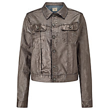 Buy Polo Ralph Lauren Denim Trucker Jacket, Gunmetal Online at johnlewis.com