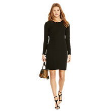 Buy Polo Ralph Lauren Long Sleeve Shift Dress, Polo Black Online at johnlewis.com