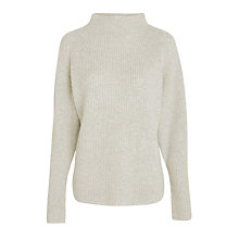 Buy Polo Ralph Lauren Mock Neck Wool Cashmere Jumper, Light Vintage Heather Online at johnlewis.com