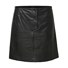 Buy Selected Femme Harmonia Leather Skirt, Black Online at johnlewis.com