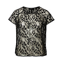 Buy Selected Femme Selina Lace Top, Black Online at johnlewis.com