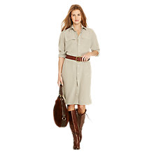 Buy Polo Ralph Lauren Tabatha Silk Shirt Dress, Nantucket Grey Online at johnlewis.com