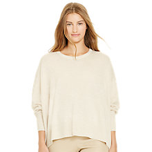 Buy Polo Ralph Lauren Relaxed Fit Cashmere Jumper, Mesa Heather Online at johnlewis.com