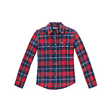Buy Lee Regular Western Check Shirt, Primary Red Online at johnlewis.com