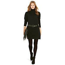 Buy Polo Ralph Lauren Turtle Neck Merino Wool Dress, Polo Black Online at johnlewis.com