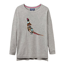 Buy Joules Merry Pheasant Intarsia Jumper, Grey Online at johnlewis.com