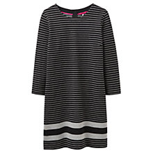 Buy Joules Marie Stripe Jersey Dress, Black Online at johnlewis.com