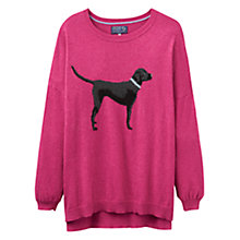 Buy Joules Meryl Labrador Intarsia Jumper, Raspberry Online at johnlewis.com