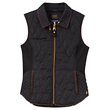 Buy Joules Braemar Quilted Gilet, Black Online at johnlewis.com