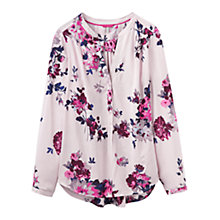 Buy Joules Rosamund Printed Blouse, Champagne Floral Online at johnlewis.com
