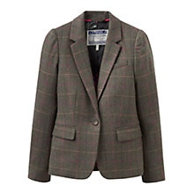 Buy Joules Horatia Tweed Blazer, Heather Check Online at johnlewis.com