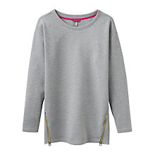 Buy Joules Milton Side Zip Ribbed Sweatshirt Online at johnlewis.com